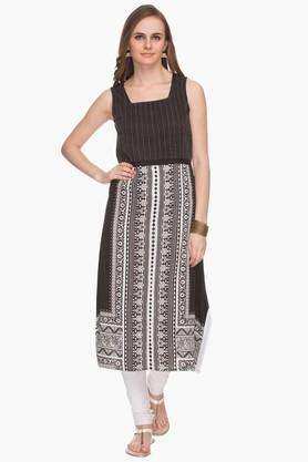 IMARA Womens Printed Casual Midi Dress