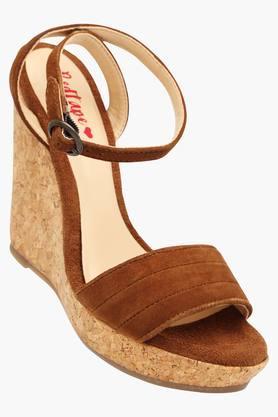 Womens Casual Wear Buckle Closure Wedge Sandals - 202414866
