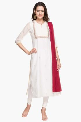 RS BY ROCKY STAR Womens Printed Churidar Suit  ...