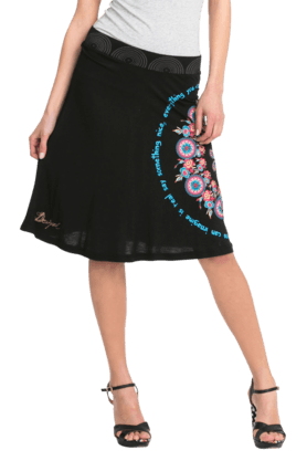 DESIGUAL Women Viscose Knee Length Skirt