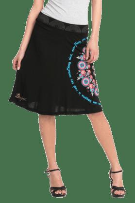 DESIGUALWomen Viscose Knee Length Skirt