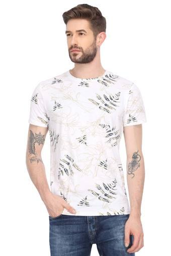 JACK AND JONES -  White T-shirts - Main