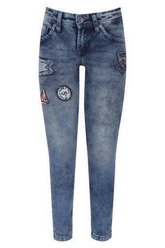 Boys 5 Pocket Patch Work Jeans