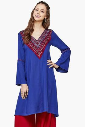 GLOBAL DESI Womens Bell Sleeve Tunic