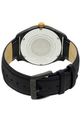 Mens Black Dial Leather Analogue Watch - 40023KL02E