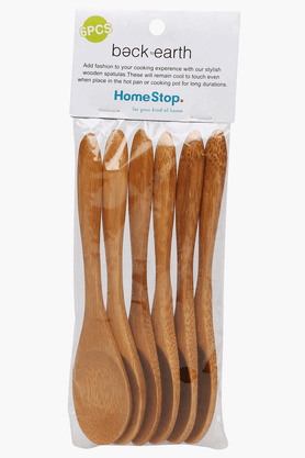 BACK TO EARTH Bamboo Small Spoons (Set Of 6)