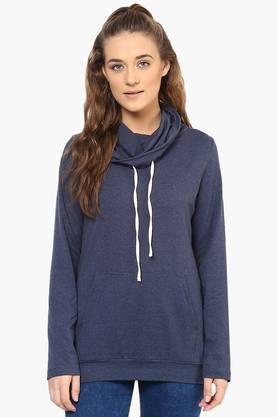 PURYSWomens Cowl Neck Slub Sweatshirt