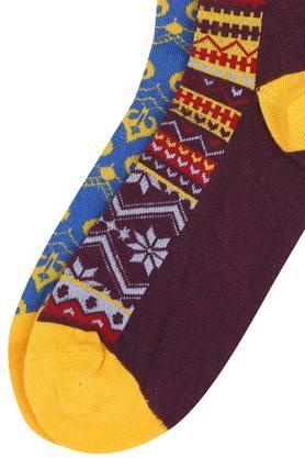 Mens Printed Socks - Pack of 2