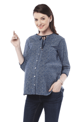 NINE MATERNITY Women Cotton Blouse