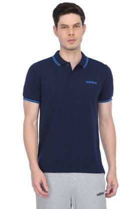 Mens Solid Sports Polo T-Shirt