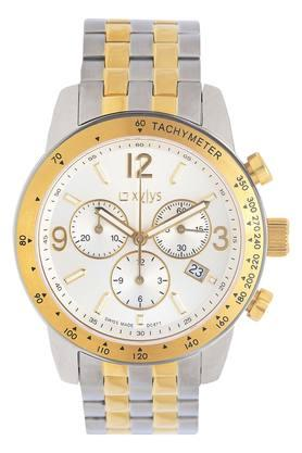 Mens Tachymeter Beige Dial Chronograph Watch - NL90009BM01