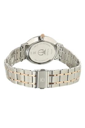 Silver Dial Metallic Analogue Couple Watch