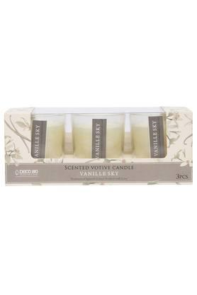 Vanille Sky Scented Votive Glass Candles - Set of 3