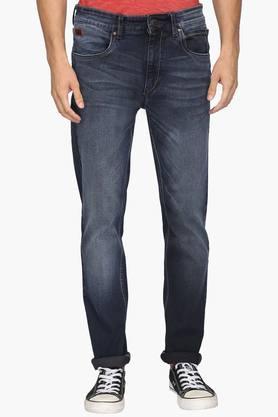 WROGNMens 5 Pocket Skinny Fit Mild Wash Jeans
