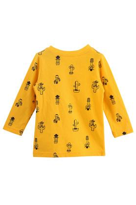 Boys Round Neck Printed Top