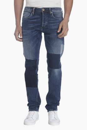 JACK AND JONES Mens 5 Pocket Stretch Jeans (Mike Fit) - 201415679
