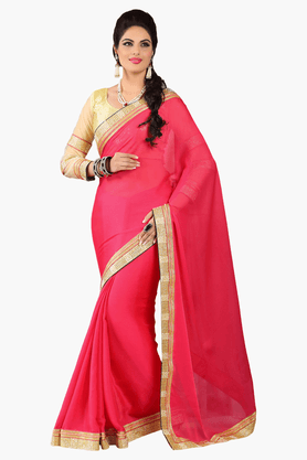 DEMARCA Womens Embroidered Saree - 201151765