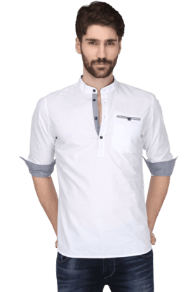Being Human Formal Shirts (Men's) - Mens Full Sleeves Slim Fit Casual Solid Shirt