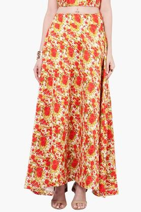 INDYA Womens Printed Maxi Skirt - 201845611