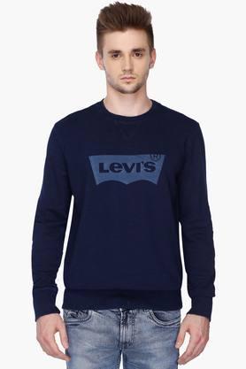 LEVISMens Regular Fit Round Neck Printed Sweater