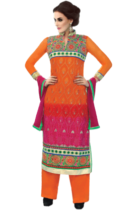 DEMARCA Women Georgette Dress Material - 9876825