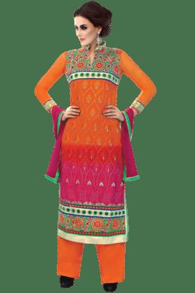 DEMARCAWomen Georgette Dress Material - 9876825