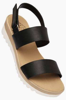 FEMINA FLAUNT Womens Daily Wear Velcro Closure Wedge Sandal - 202124596