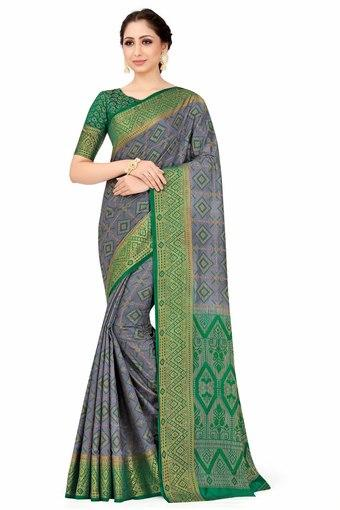 MIMOSA -  Grey Saree - Main