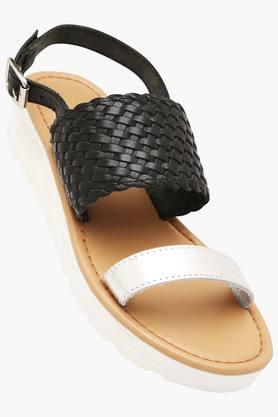 STEVE MADDEN Womens Casual Wear Buckle Closure Wedge Sandals