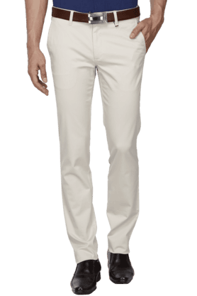 LOUIS PHILIPPE SPORTSMens Slim Fit Solid Chinos