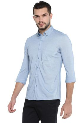 STOP - Sky Blue Formal Shirts - 2