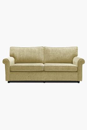 Victorian Gold Fabric Sofa (3 - Seater)