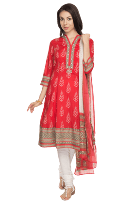BIBAWomens Printed Salwar, Kurta And Dupatta Set - 200737247
