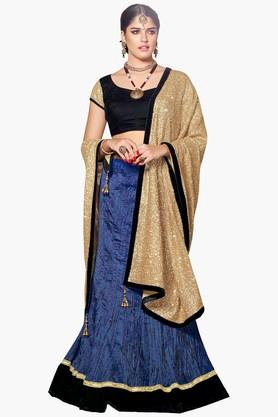 MAHOTSAV Womens Sequins Semi-stitched Lehenga Choli