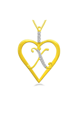 SPARKLESHis & Her Collection 92 Kt Diamond Pendants In 925 Sterling Silver Diamond HHP8411-92KT