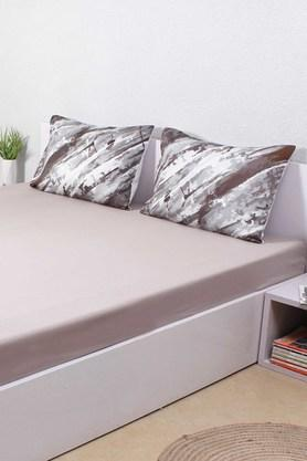 HOUSE THIS The Incomplete Wale 100% Cotton Sateen Single Bed Sheet & 1 Pillow Cover - Grey