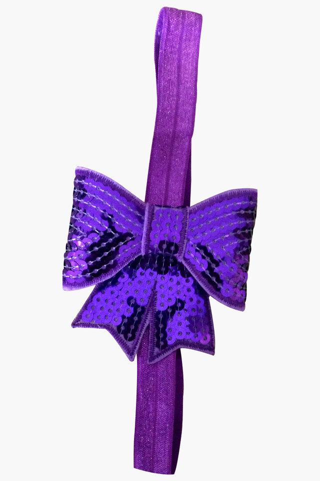 Girls Sequin Embellished Bow Headband (0 - 4 Years)