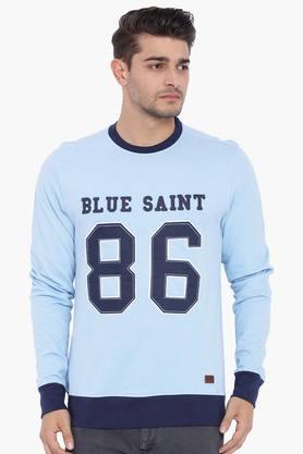 BLUE SAINTMens Blue Sweatshirt