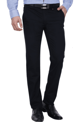 LOUIS PHILIPPE SPORTS Mens 4 Pocket Slim Fit Solid Formal Trousers