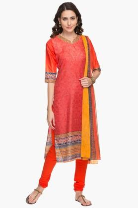 Womens Printed Churidar Suit