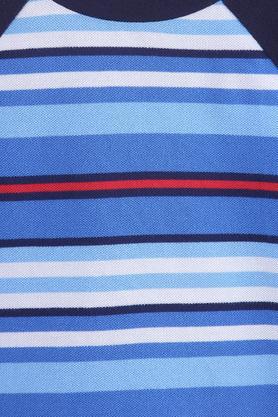 Boys Round Neck Stripe Top