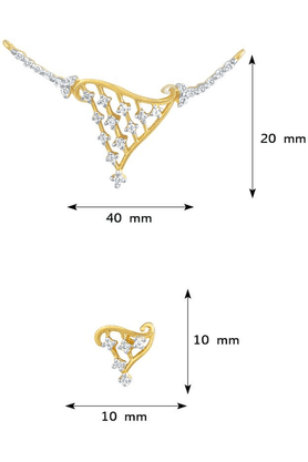 MAHIMahi Daily Wear Fashion Mangalsutra Pendant Of Brass Alloy With CZ For Women PS1191410G
