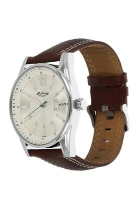 Mens Analogue Leather Watch
