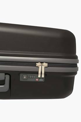 Unisex 1 Compartments Zipper Closure Hard Trolley