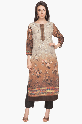 KASHISH Womens Floral Printed Kurta