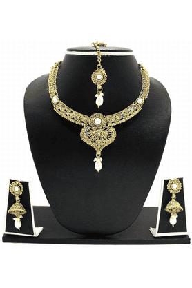 ZAVERI PEARLSEthnic Indian Necklace Jewel Set - ZPFK3338