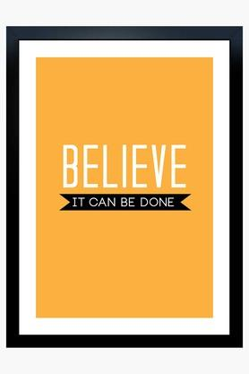 CRUDE AREA Multi Colour Believe It Can Be Done Printed Paper Poster  ...