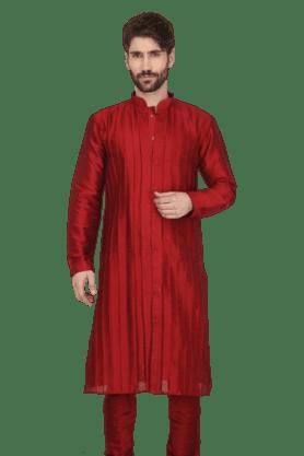 KASHISHMens Pleated Kurta Pyjama Set