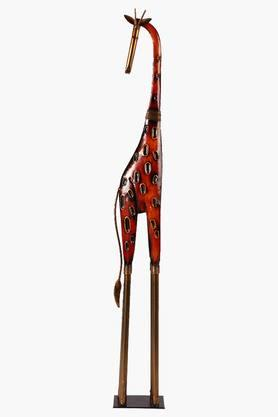 MALHAR Decorative Wrought Iron Giraffe Artifact Show Piece - 201781951