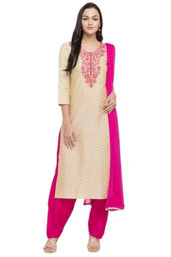 STOP -  BeigeSalwar & Churidar Suits - Main